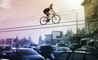 Illustration for article titled Kolelinia Lets You Ride Your Bicycle Over the Air
