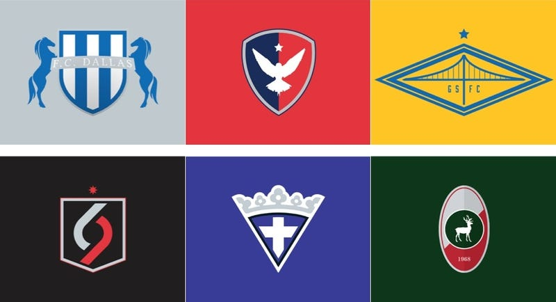 Illustration for article titled NBA Logos As European Soccer Badges
