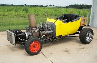 Illustration for article titled Why Yes, That Is A Turbine-Powered Ford T-Bucket