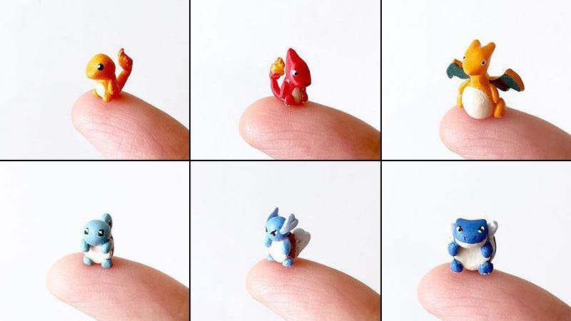 Illustration for article titled Tiny Pokémon Fit on your Fingertip