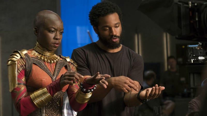 Black Panther director Ryan Coogler with Danai Gurira. All Images: Disney