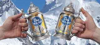 Illustration for article titled Drink Any Beer Like It's Octoberfest With This Stein-Style Can Holder