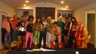 Illustration for article titled WWF-Themed Fantasy Football Draft Features Impressive Costumes