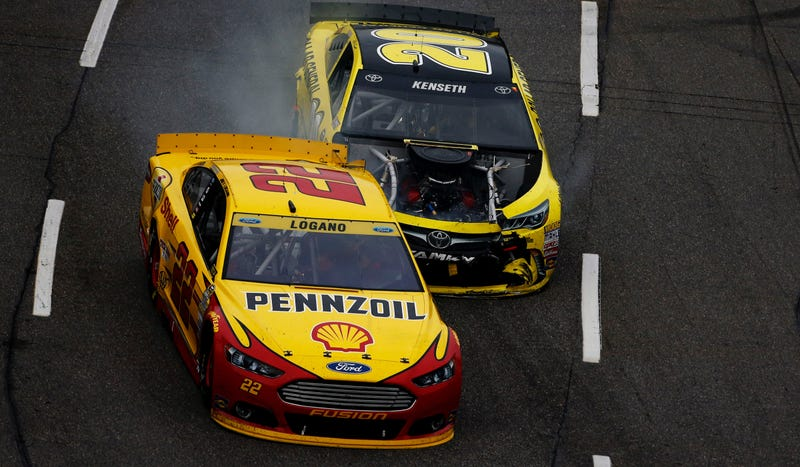 Illustration for article titled NASCAR's Kenseth Suspended For Two Races For Punting Logano Into Wall