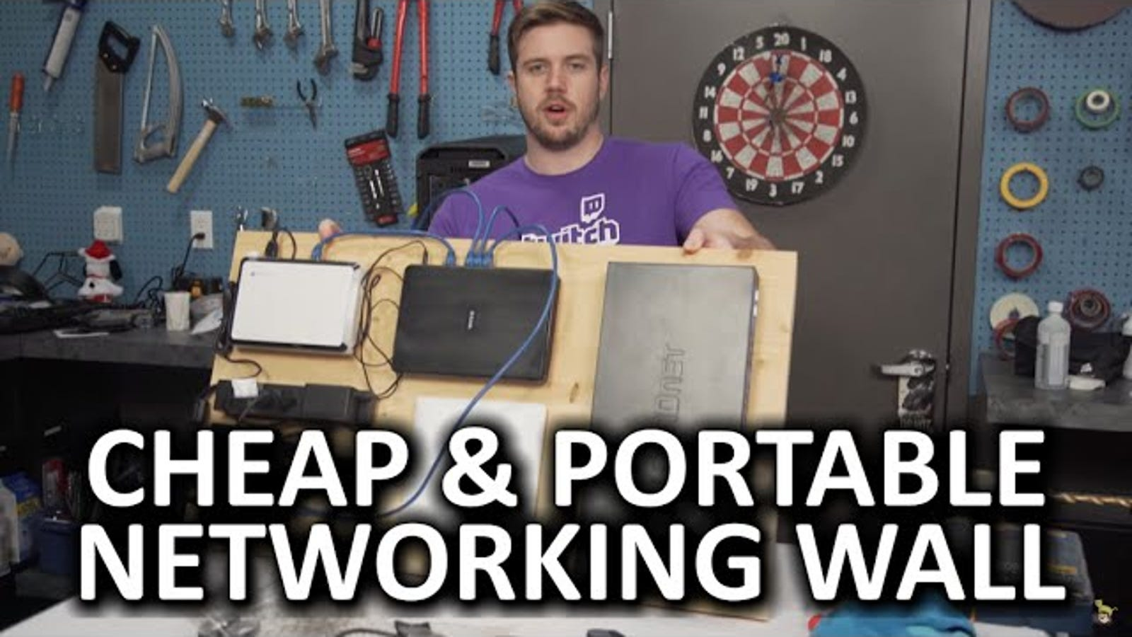 Keep Your Networking Gear Organized With A Wall Mounted Velcro Board Home Network Wiring Cabinet
