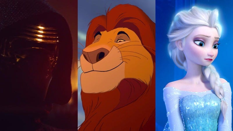 Star Wars: The Force Awakens / The Lion King / Frozen