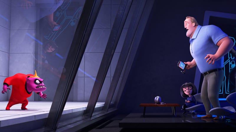 Bob discovering Jack-Jack's demonic form in Edna's lab.