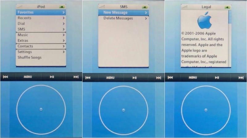 Illustration for article titled Aparecen imágenes del prototipo original de iPhone con una interfaz basada en la rueda del iPod