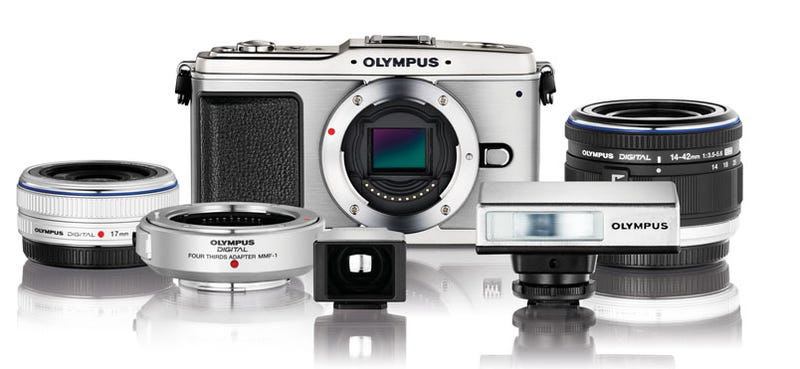 Illustration for article titled Olympus E-P1 Micro Four Thirds Camera Goes Legit With 12.3MP, 720p Video