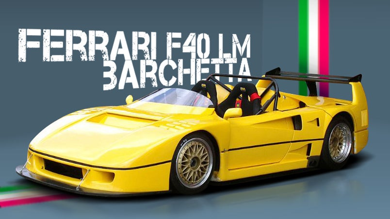 the story of the ferrari f40 lm that lost its top. Black Bedroom Furniture Sets. Home Design Ideas