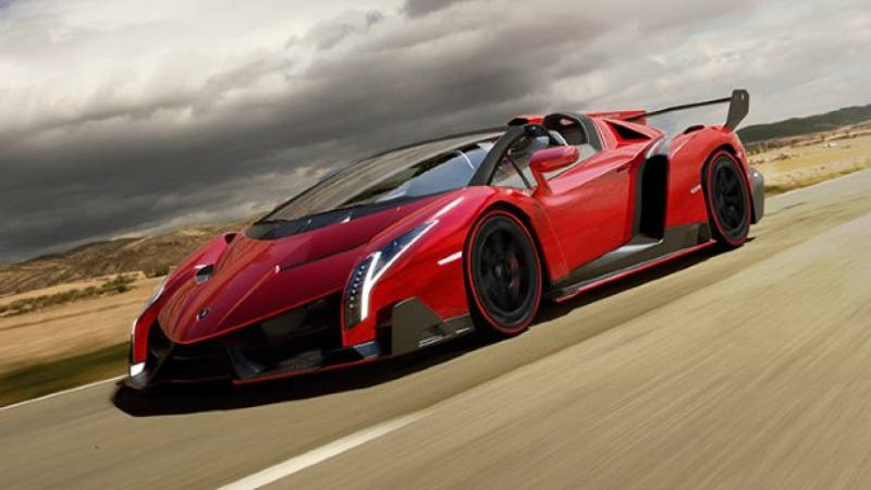 Illustration for article titled The Lamborghini Veneno Roadster Has No Roof And Costs $4.5 Million