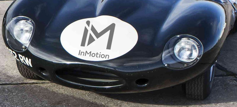 I put the InMotion logo on a D-Type because I would love to summon one from my iPhone. (Image: Jaguar Land Rover)