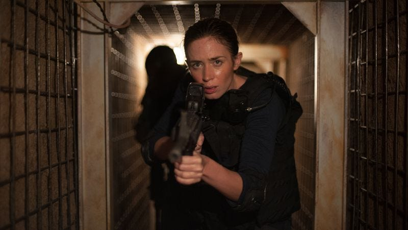 Illustration for article titled The daring Sicario gives the strong female archetype a shock to the system