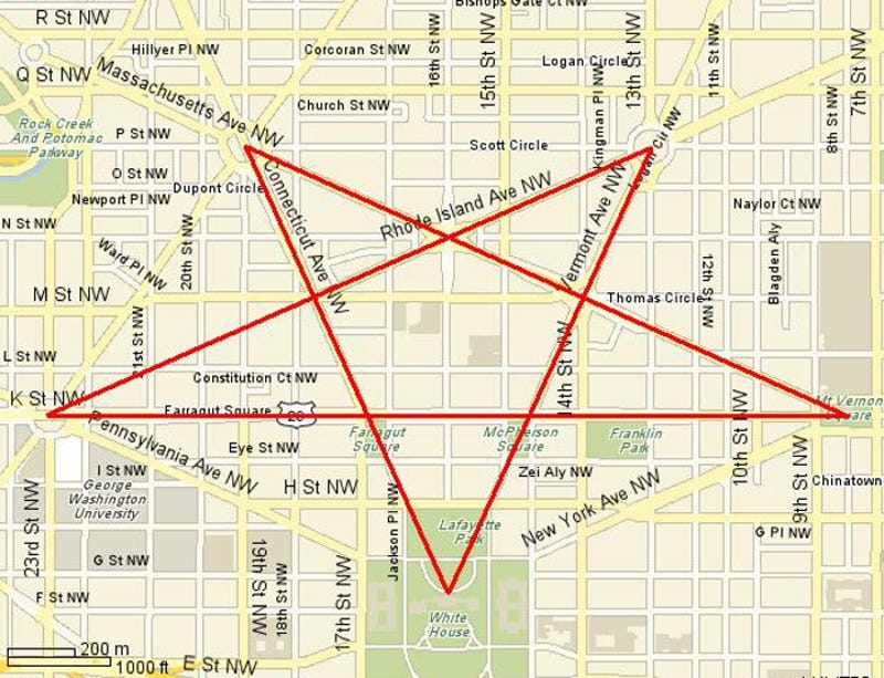 Image result for washington dc pentagram