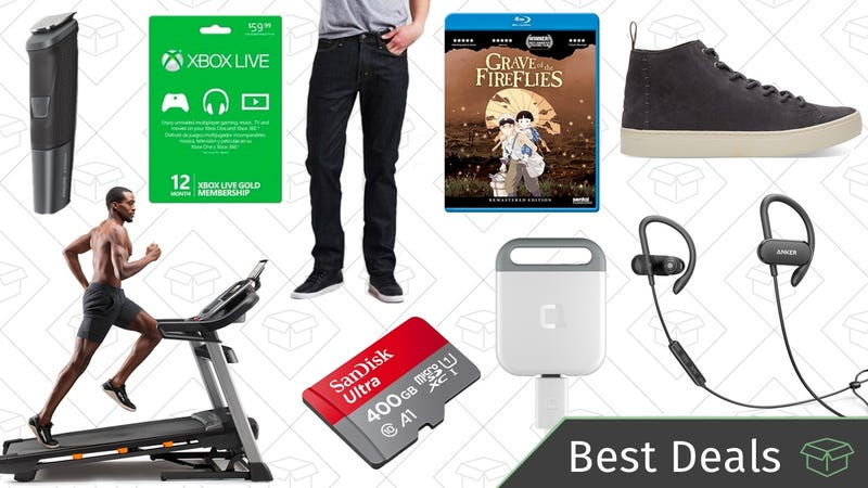 Illustration for article titled Wednesday's Best Deals: MicroSD Cards, Levi's Sale, Reader-Favorite Wireless Headphones, and More