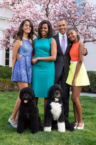The first family at Easter      The White House