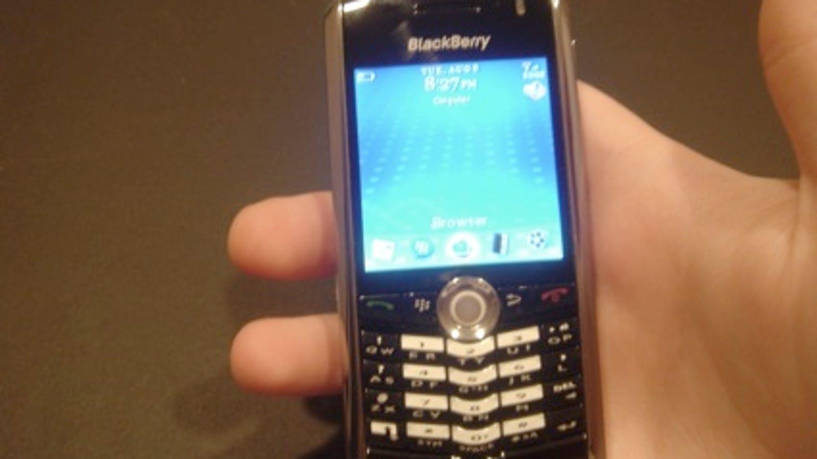 suoneria cellulare black berry pearl 8100