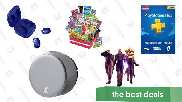 Thursday s Best Deals: Samsung Galaxy Buds Live, Outriders, PlayStation Plus, August Wi-Fi Smart Lock, Gluten-Free Snacks Box, Deadpool Movies Sale, and More