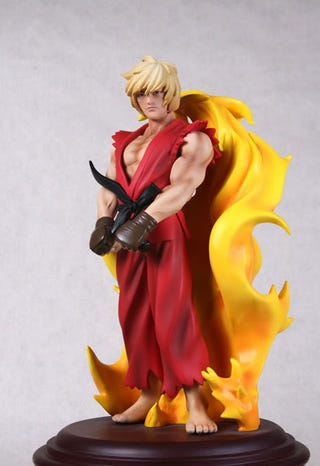 Illustration for article titled Large, Girly Ken Statue Is On Fire