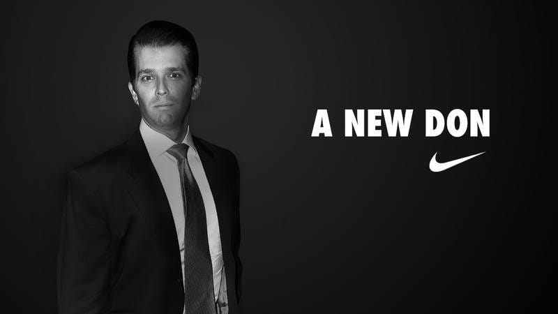 A Nike ad featuring Donald Trump Jr.