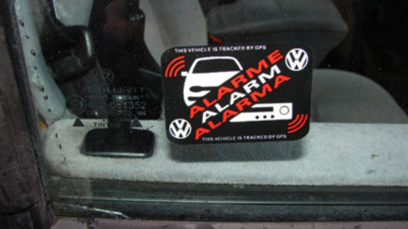 Illustration for article titled Car Alarm Window Decals Like These Need To Make A Comeback