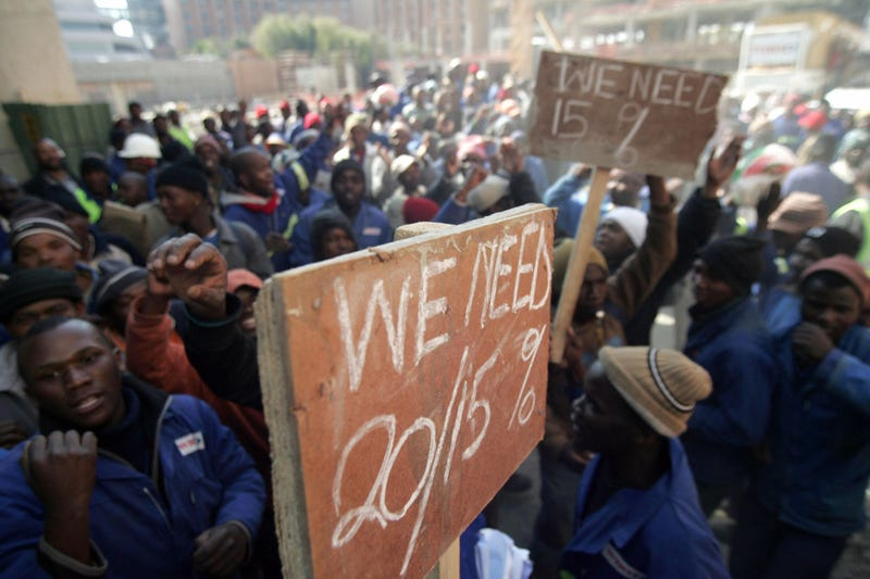 A glimpse at the country's recent worker's strike.