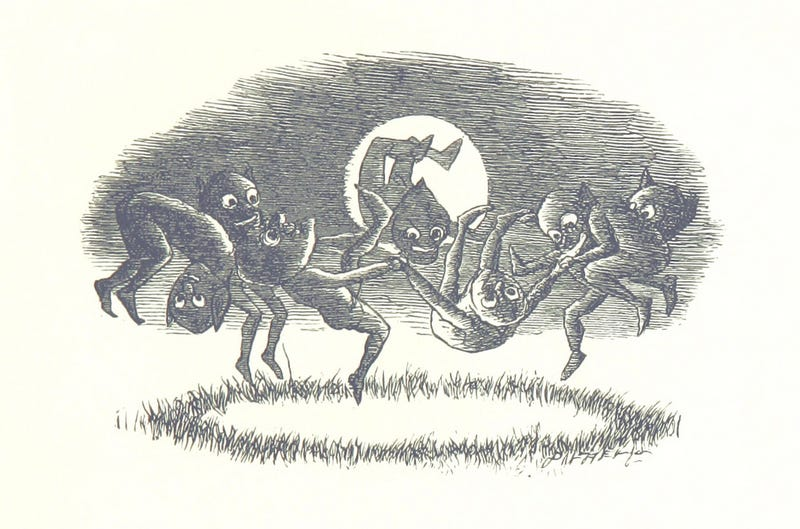Illustration for article titled What's Going On In This Picture of Demons Dancing in the Moonlight?