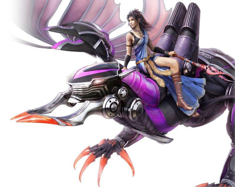 Illustration for article titled Final Fantasy XIII's Bahamut & Brynhildr Get Goofy In Gestalt