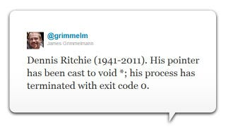Illustration for article titled Dennis Ritchie, Co-Creator of Unix and Founder of C, Has Died