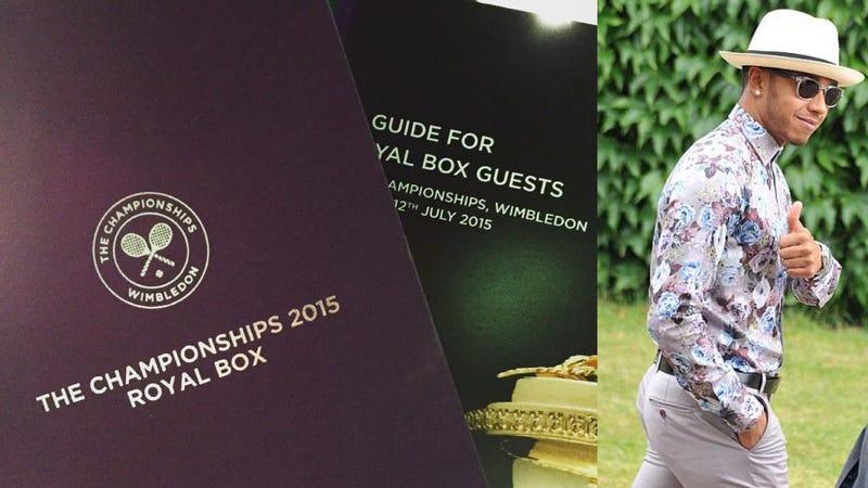 Lewis hamilton missed wimbledon over english gentleman wardrobe