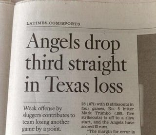 """Illustration for article titled Baseball Team Loses """"Another Game By A Point,"""" According To Newspaper"""
