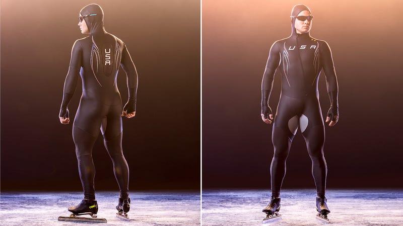 Este traje de patinaje de velocidad está creado con tecnología militar