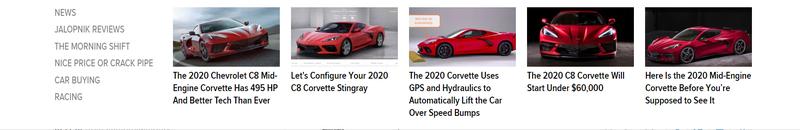 Illustration for article titled Jalopnik? Nah. More like new C8 Corvette-lopnik right now.