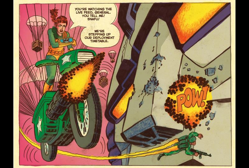 Illustration for article titled Read This: A Transformers Vs. G.I. Joe Comic That's Fun And... Smart!