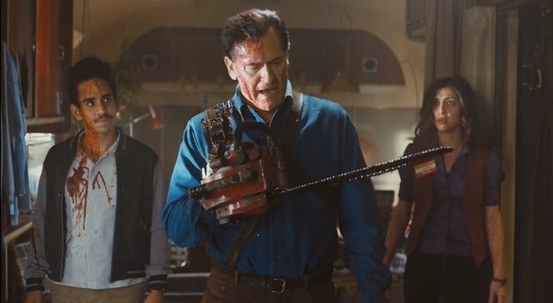Illustration for article titled Bruce Campbell Is Hilarious on the Bloody, Amazing Ash Vs. Evil Dead