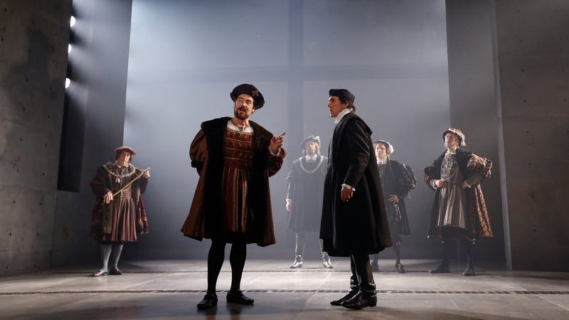 King Henry VIII and Thomas Cromwell discuss affairs. Photo credit: Kirsty Wigglesworth/AP