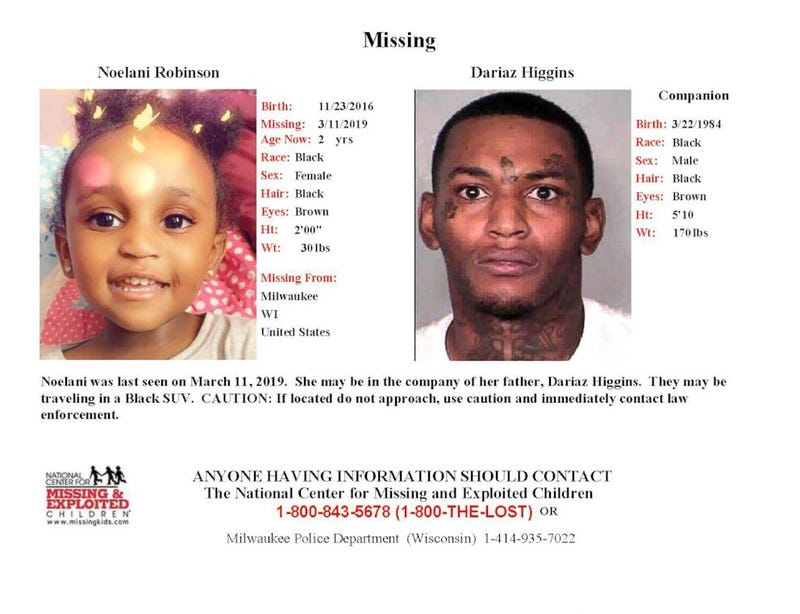 Illustration for article titled Amber Alert Issued for 2-Year-Old Noelani Robinson After Mother Shot by Father