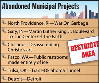 Illustration for article titled Abandoned Municipal Projects