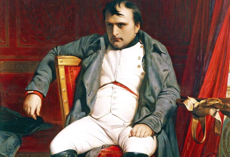 Abdicación de Napoleón en Fontainebleau, por Paul Desabroche. Wikimedia Commons