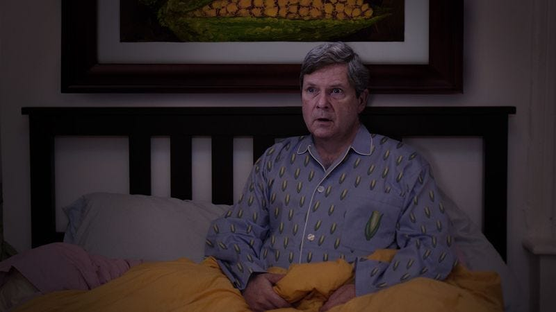 At one point during the nightmare, Vilsack thought he had woken up, only to see that his wife sleeping next to him was a piece of rotten corn on the cob.