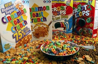 Illustration for article titled Not So Grrrrrreat: Consumer Reports Comes Down Hard On Sugary Cereals