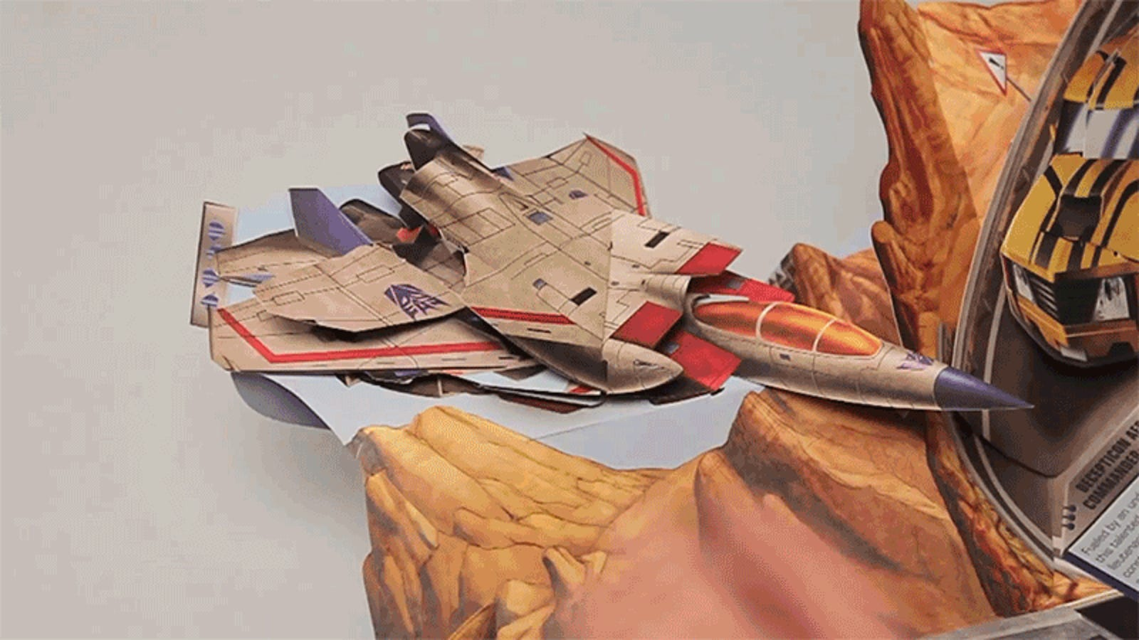 Transformers Pop-Up Book Features Paper Robots That Actually Transform