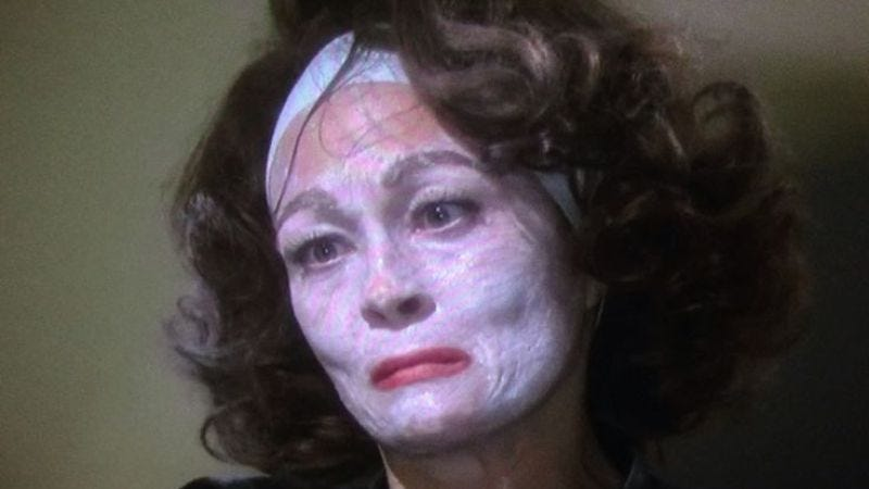 Faye Dunaway, in Mommie Dearest