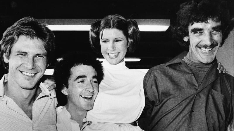 Harrison Ford/Han Solo; Anthony Daniels/C3PO; Carrie Fisher/Princess Leia; Peter Mayhew/Chewbacca (AP Photo)
