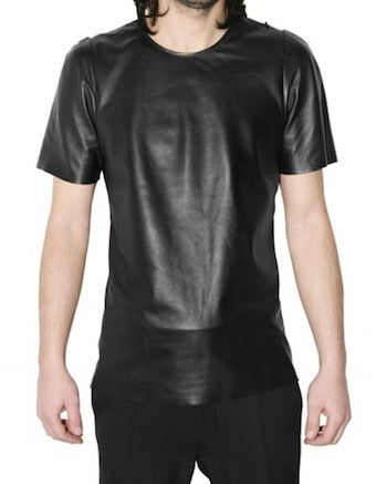Illustration for article titled $700 Leather T-Shirt Guarantees Stylish Discomfort