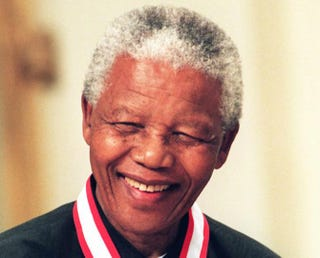 South African President Nelson Mandela in September 1998ADRIAN WYLD/AFP/Getty Images