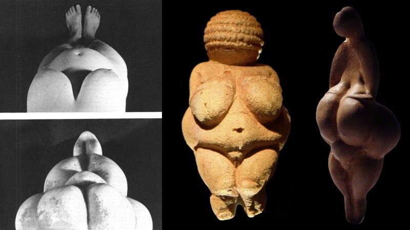 Illustration for article titled ¿Y si las venus del Paleolítico no fueron talladas por hombres sino por mujeres examinando su propio cuerpo?