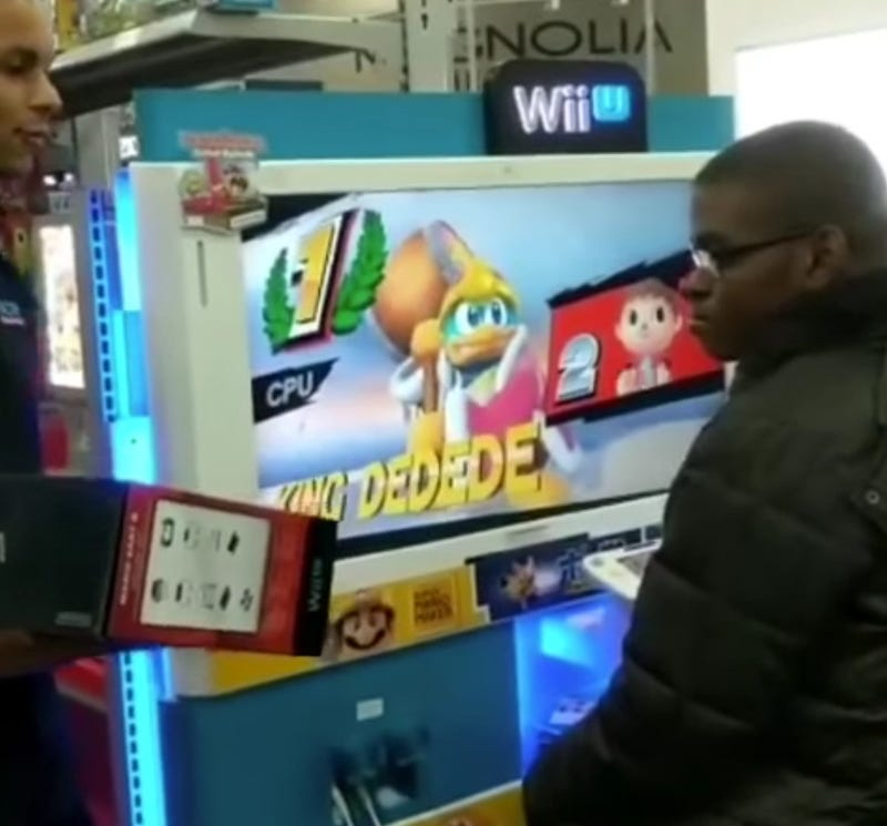 Teen who was gifted a WiiU by a group of employees at a Best Buy in Valley Stream, N.Y.YouTube Screenshot