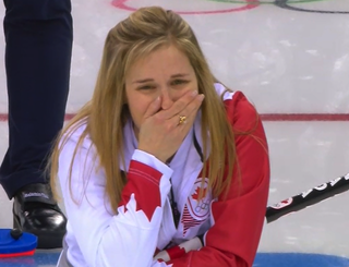 Illustration for article titled Canada's Curling Skip Gets Emotional While Watching Final Shot