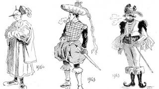 Illustration for article titled Take a tour of 20th Century fashions, as imagined in the year 1893
